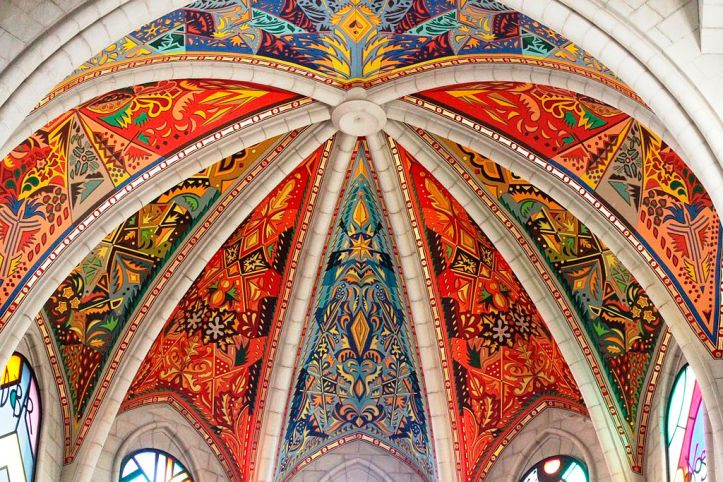 Art and Liturgy - Almudena Cathedral Apse Ceiling Painted