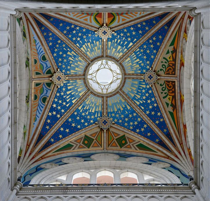 Art and Liturgy - Cupola ceiling painted mural