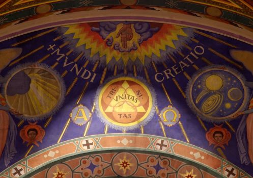 1200px-Our_Lady,_Queen_of_the_Most_Holy_Rosary_Cathedral_(Toledo,_Ohio)_-_mural,_Creation