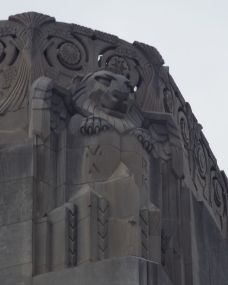 Evangelist symbols on the corners of the bell tower
