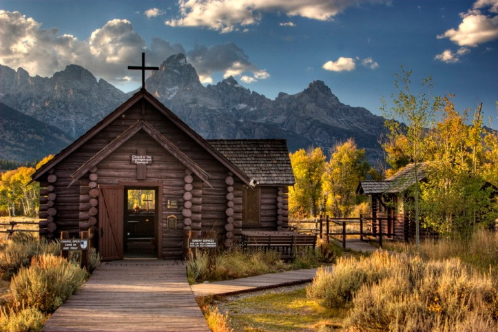Art and Liturgy - Chapel of the Transfiguration Episcopalian church in Grand Teton National Park
