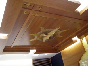Baldachin detail with Holy Spirit