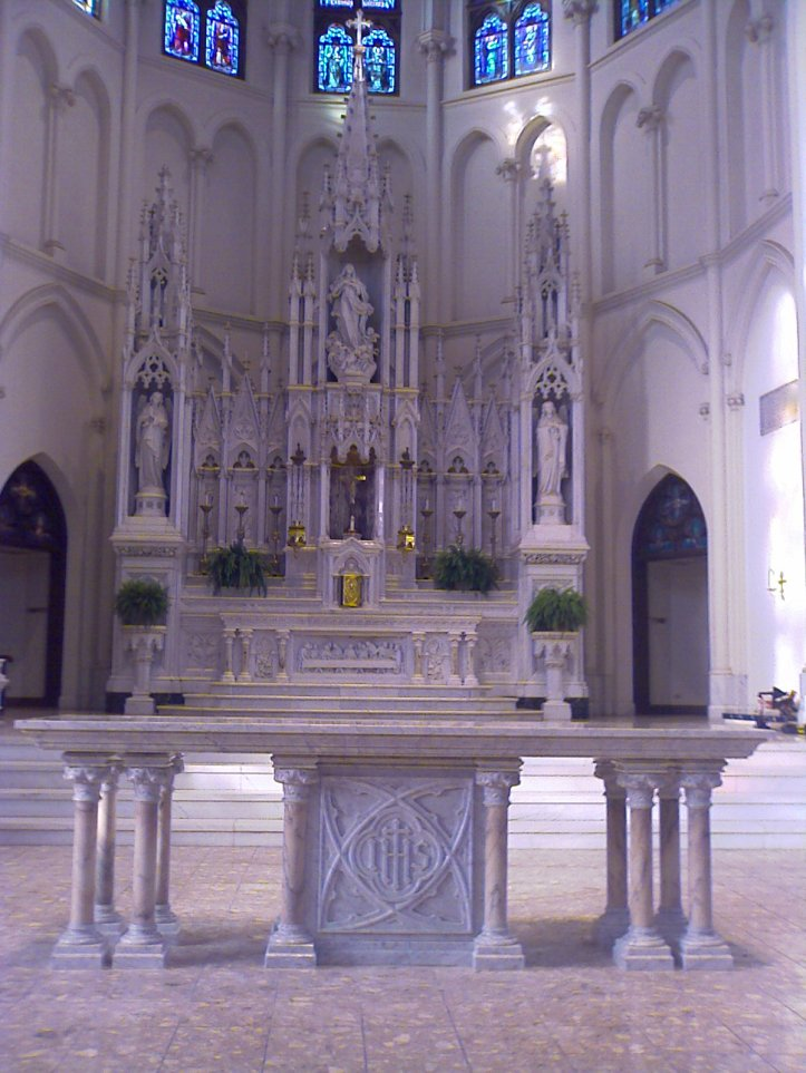 Altar at Cathedral of Our Lady of the Immaculate Conception - Denver, CO - Altar fabricated by Granda Liturgical Arts
