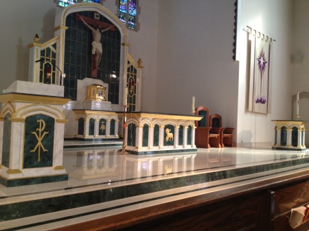 Our Lady Queen of Peace Church (Staten Island, NY) — Liturgical design and furnishings by Granda Liturgical Arts