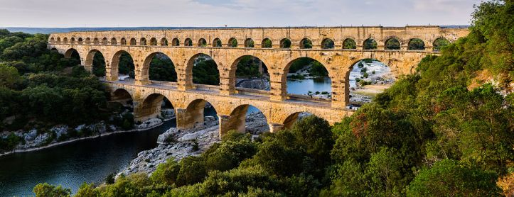 Art and Liturgy - Pont du Gard ancient Roman aqueduct in southern France
