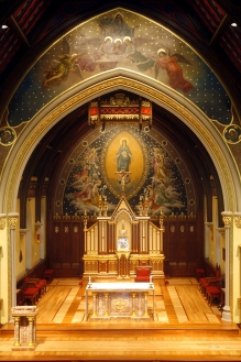 CHAPEL OF THE IMMACULATE CONCEPTION AT SETON HALL UNIVERSITY — Photograph copyright of Granda Liturgical Arts. Please ask permission before using.