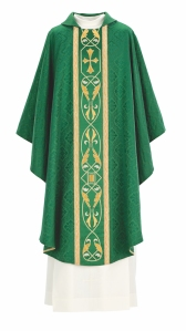 Art and Liturgy - green hand-embroidered chasuble by Granda Liturgical Arts