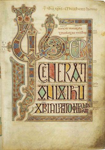 Detail from the Lindisfarne Gospel
