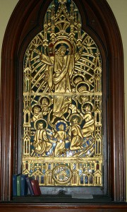 Art and Liturgy - Willet Hauser Sculptured Gold Stained Glass Window - Christ Church Cathedral New Orleans Lousiana