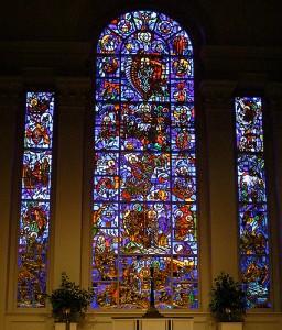 Art and Liturgy - Willet Hauser Sculptured Gold Stained Glass Window - Second Presbyterian Louisville Kentucky