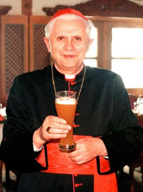 Art and Liturgy - Cardinal Ratzinger Pope Benedict Drinking Beer