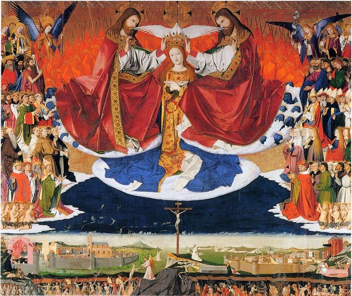 Art and Liturgy -Enguerrand Quarton - Coronation of the Virgin - 1454