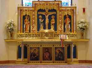 Art and Liturgy - Our Lady of Walsingham Cathedral Altar and Tabernacle Houston Texas Granda Liturgical Arts