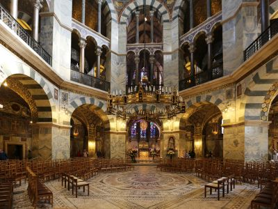 Art and Liturgy - Palatine Chapel Aachen Germany Charlemagne Romanesque