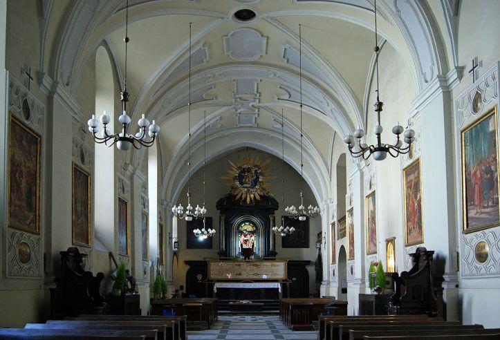Art and Liturgy - Saint Francis Basilica Krakow Poland Interior 3 Shroud of Turin Replica