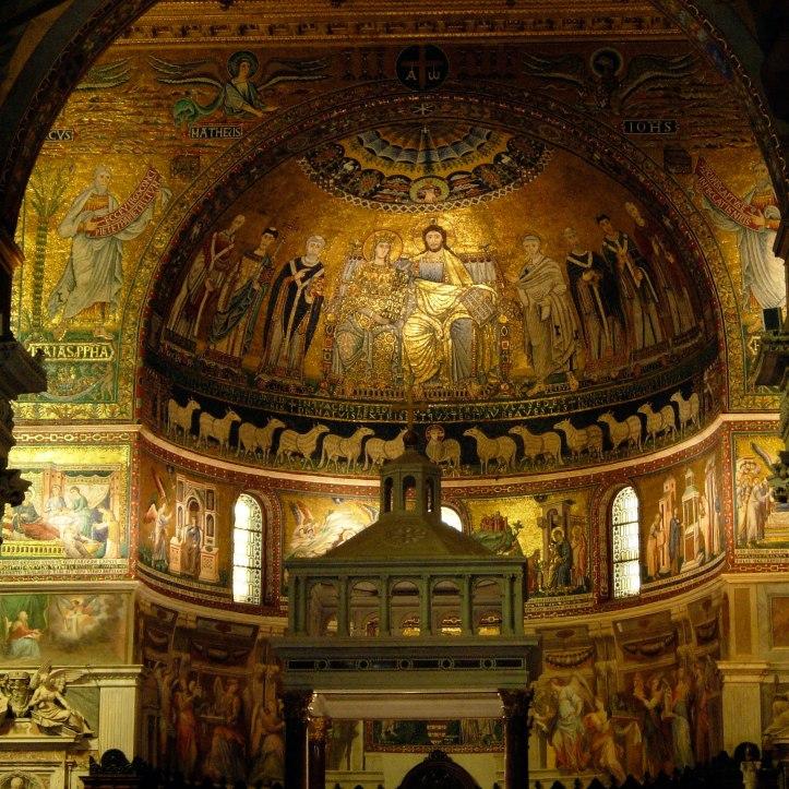 Art and Liturgy - Santa Maria in Trastevere apse mosaic