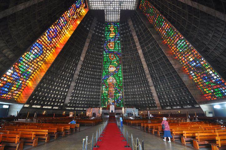 Art and Liturgy - Rio de Janeiro Cathedral Sao Sebastiao Interior