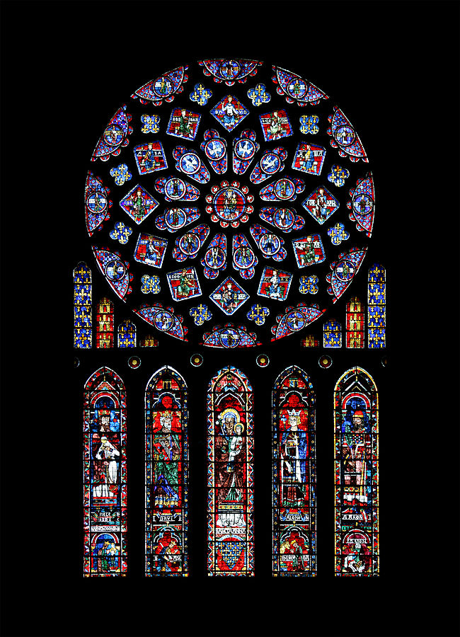 Art and Liturgy - Chartres Cathedral North Transept Rose Window - Gothic stained glass