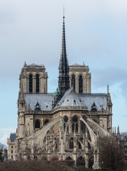 Notre Dame de Paris, East View,