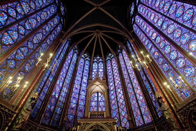 Art and Liturgy - Sainte Chapelle Paris France - French Gothic stained glass windows