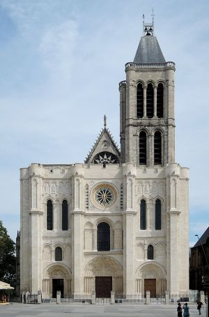 Art and Liturgy - West facade of Saint Denis church in Paris - first Gothic church - completed 1144