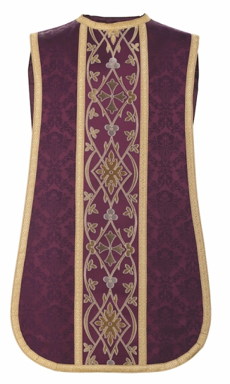 Fiddleback-style chasuble by Granda Liturgical Arts.