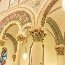 Cathedral Basilica of St. Francis Assisi (Santa Fe, NM). Arcade.