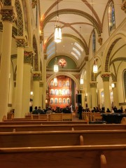 Cathedral Basilica of St. Francis Assisi (Santa Fe, NM). Interior vista.