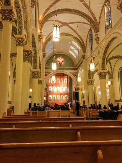 Cathedral Basilica of St. Francis Assisi (Santa Fe, NM). Interior vista.