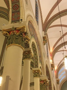 The brightly colored corinthian capitals and vaults make for an impressive sight.