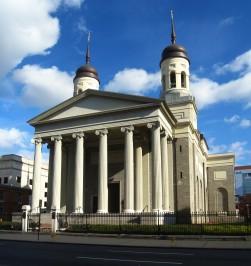 Baltimore Basilica. Exterior and façade. Photo kindly provided by Colter Sikora of Roamin' Catholic Churches.
