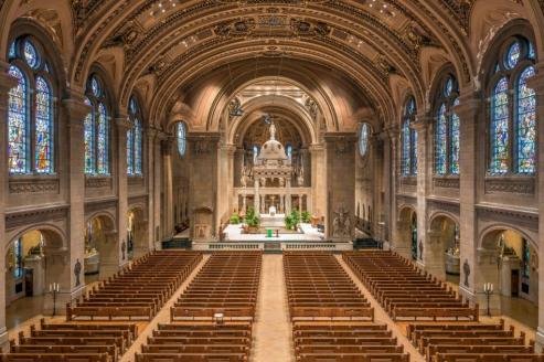 Basilica of St. Mary (Minneapolis, MN). Interior vista. Photo provided by parish.