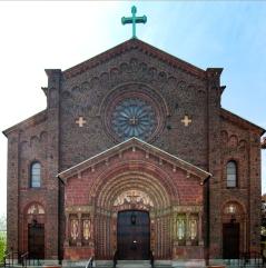 Blessed Trinity Church (Buffalo, NY). Exterior façade. Photo by Steve Mangione.