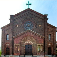 Blessed Trinity Church (Buffalo, NY). Exterior façade. Photo by Steve Mangione.