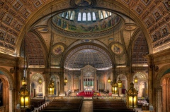 Blessed Trinity Church (Buffalo, NY). Interior vista. Photo by Timothy Neesam on Flickr. Used here under a Creative Commons license.