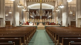 Cathedral of Christ the King, Lexington, KY. Interior vista. Photos courtesy of the parish and MoTyme Photography.
