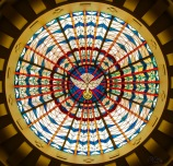 Cathedral of Christ the King, Lexington, KY. Baptistry stained-glass ceiling. Photos courtesy of the parish and MoTyme Photography.