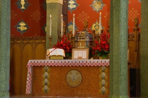 Holy Comforter-St. Cyprian Church (Washington, DC). Altar and tabernacle. Photo from parish website.