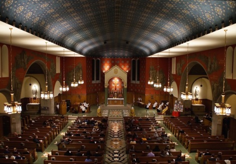 Holy Comforter-St. Cyprian Church (Washington, DC). Interior vista. Photo from parish website.