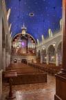 Kenrick-Glennon Seminary's Chapel of St. Joseph (St. Louis, MO). Rear of chapel. Photo by Sam Fentress, provided by seminary.