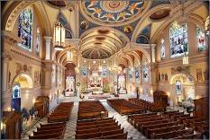 St. Bernard Church (Akron, OH). Interior vista. Photo from parish website.