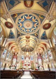 St. Bernard Church (Akron, OH). Nave and ceiling. Photo from parish website.