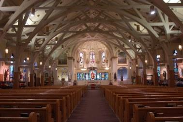 Shrine of St. Joseph the Worker (Lowell, MA). Interior vista. Photo from parish website.