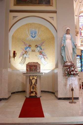 Shrine of St. Joseph the Worker (Lowell, MA). Tabernacle alcove. Photo from parish website.