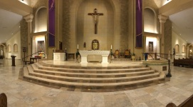 St. Paul Church (Nampa, ID). Sanctuary panorama. Photo provided by parish.
