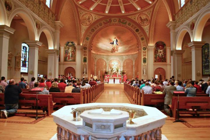 Art and Liturgy - Church Madness - Cathedral of Immaculate Conception Memphis TN -Interior Vista