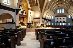 Holy Trinity Church (Gainesville, VA). Interior vista. Photo from parish website.