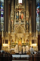 St. Francis de Sales Oratory (St. Louis, MO). High altar. Photo generously provided by Ms. Lisa Johnston.