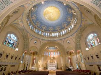 St. James Church (Louisville, KY). Interior vista. Photo from parish website.