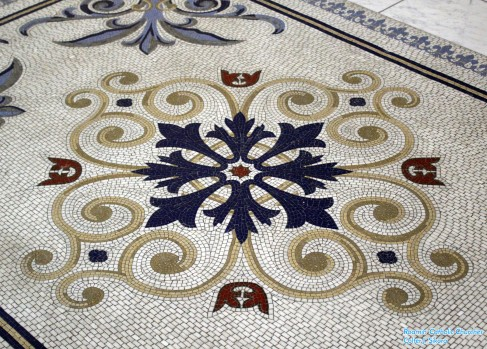 St. John the Evangelist Church (Indianapolis, IN). Floor mosaic. Photo graciously supplied by the unparallelled Roamin' Catholic Churches.